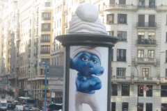 Campaña película 'LOS PITUFOS'. Madrid